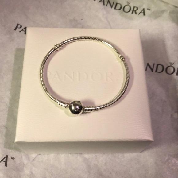 daeafa4f1 Pandora Jewelry | Disney Mickey Bracelet Clear Cz | Poshmark